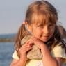 dziwczynka nad morzem portret