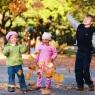 dzieci jesień